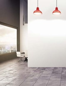 3D rendering of an office with lamps